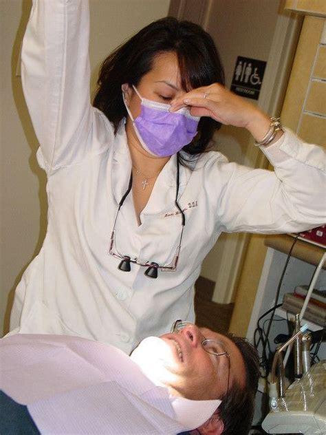dentist prepares  examine  mouth   find
