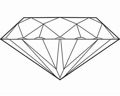 Diamonds Draw Diamond Coloring Drawing Pages Minecraft