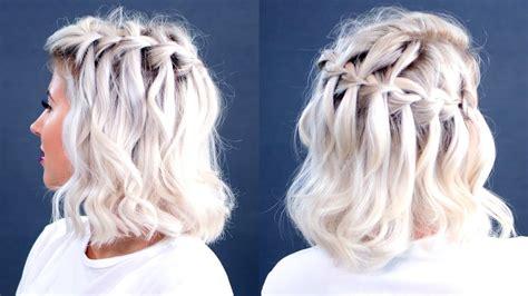waterfall braid short hair tutorial milabu youtube