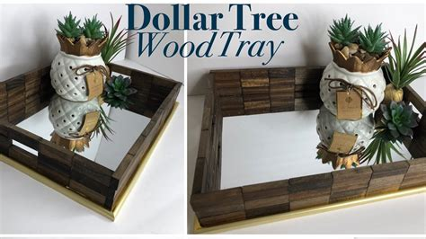 dollar tree diy wooden mirror tray diy vanity tray youtube