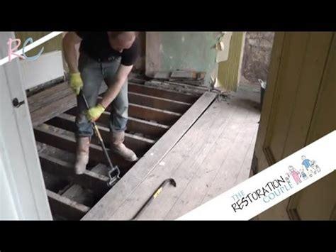 removing insulating  restoring  suspended wooden