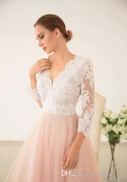 discount fairy  ivory lace peach tulle country wedding
