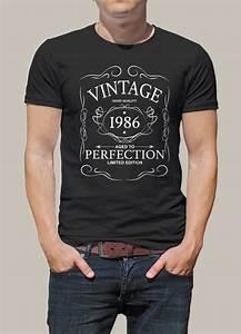 T Shirt 30 Ans : tee shirt personnalis pour un cadeau d 39 anniversaire r ussi avec ce tee shirt vintage 1986 ~ Voncanada.com Idées de Décoration
