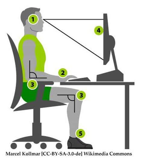 si e informatique ergonomique un espace de travail ergonomique chez soi
