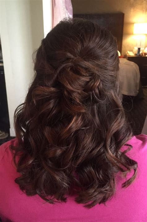 wedding hairstyles long hair mother bride