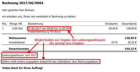 Auf Rechnung by Rechnung Schreiben Was M 252 Ssen Sie Bei Der Erstellung