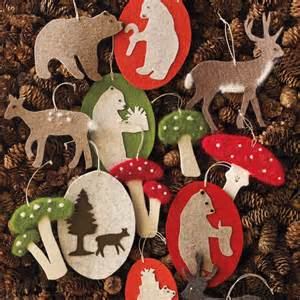 needle felted woodland ornaments martha stewart