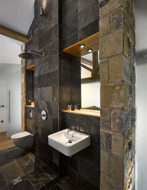 historic barn reinvented  modern home  exposed trusses