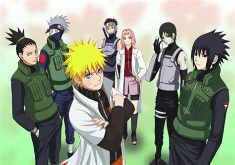 Naruto, Shikamaru, Sasuke, Sai, Sakura, Kakashi