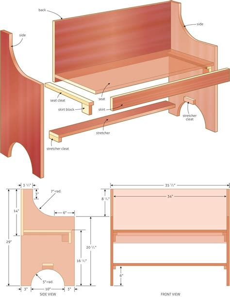 rustic  simple bench plan woodworking bench plans