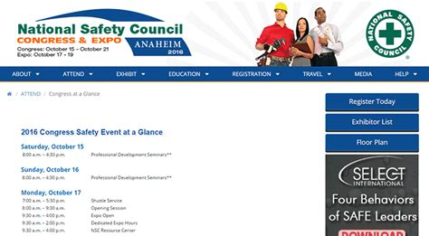 The 2016 National Safety Council The 2016 National Safety Council Congress Expo Make