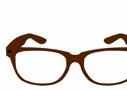 Glasses Clip Clipart Brown Eye Safety Eyes