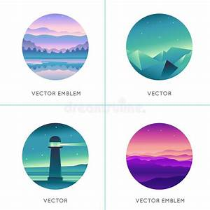 Vector Abstract Logo Design Templates With Gradient ...