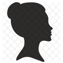 girl icon  glyph style   svg png eps ai