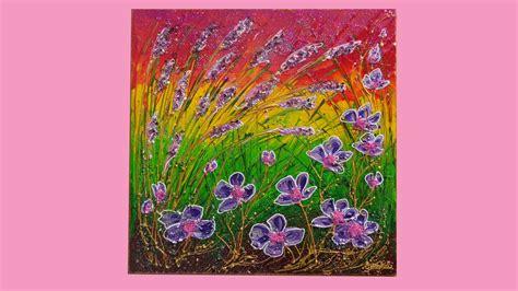 Spighe e fiori viola Vendita Quadri Online Quadri moderni Quadri astratti Quadri