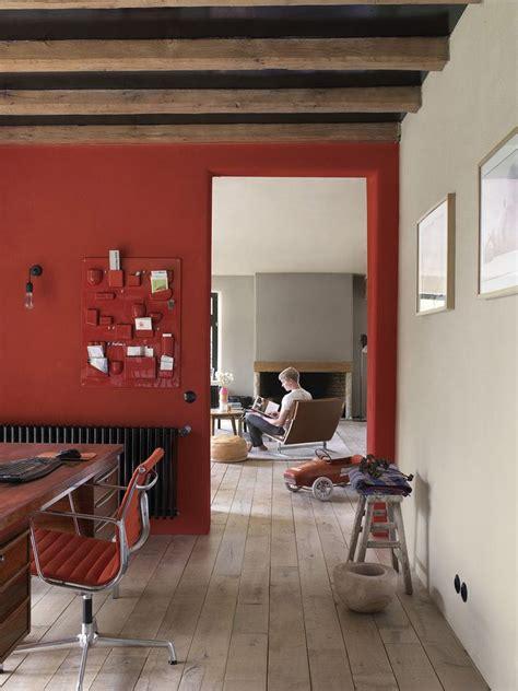 Pareti Color Arancio by Interno Casa Parete Rossa Idee Per La Casa