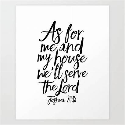 Joshua Bible Verse Scripture Poster Prints Quote