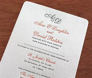 rounded corner letterpress wedding card with space to With wedding invitations wording with guest names
