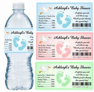 30 baby shower water bottle labels glossy waterproof With customized water bottle labels for free