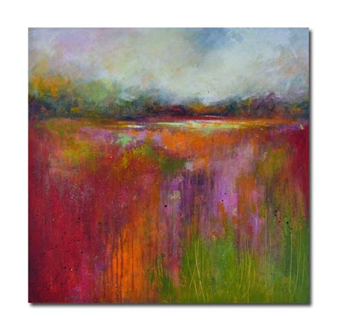 Colourful Original Abstract Landscape Painting In Blue And