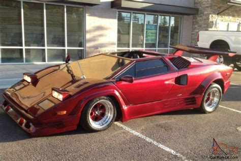 red lamborghini countach kit car great engine runs