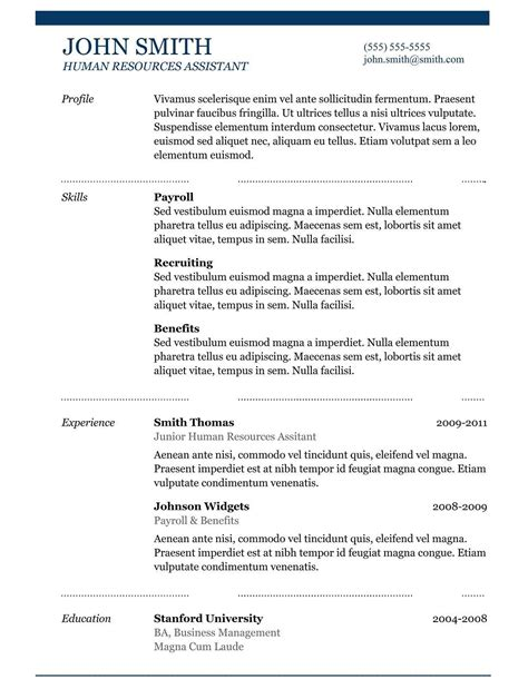 8 resume model word format malawi research