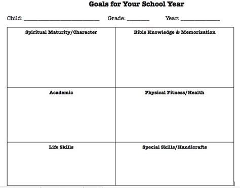 goal setting   homeschool year  printable