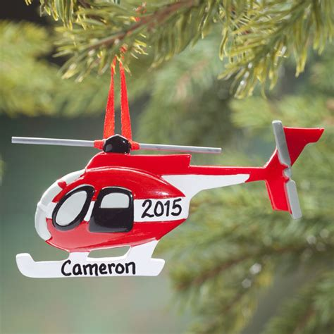 personalized helicopter ornament christmas decoration