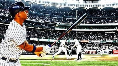 Torres Gleyber Yankees York Run Mlb Cracks