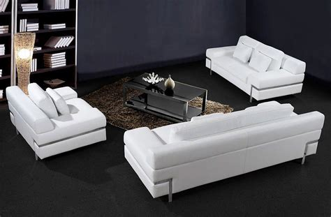 Contemporary White Leather Sofas by Contemporary White Leather Sofas Divani Casa Iris Modern