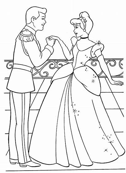 Coloring Pages Sheets Printable Activity Cinderella Ve