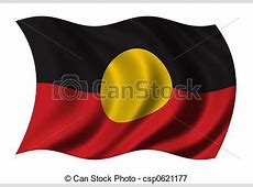 Stock Illustrations of Aboriginal Flag waving in the wind