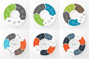 Vector Circle Arrows Infographics Set Template For Cycle