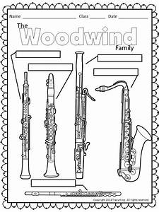 Instrument Coloring Sheets – The Bulletin Board Lady