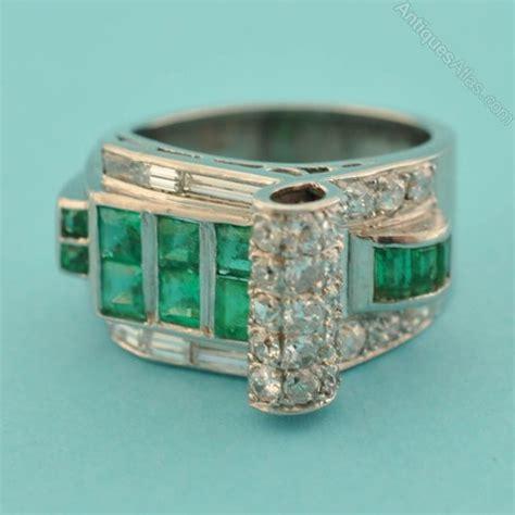 vintage deco emerald ring antiques atlas deco emerald ring