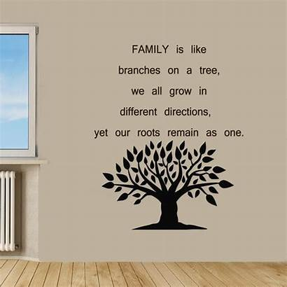Tree Quote Wall Vinyl Quotes Branches Sayings