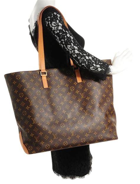 louis vuitton cabas extra large alto  brown monogram canvas shoulder bag tradesy