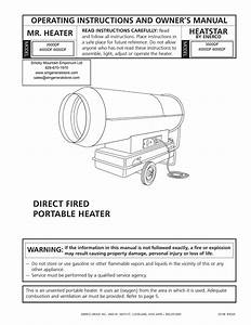 Mr  Heater 4000df Operating Instructions