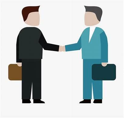 Clipart Professional Handshake Businessman Icon Cartoon Clip