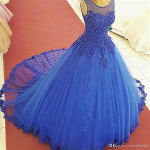 2018 Real Picture Royal Blue Sweet 16 Dreses Prom Evening ...