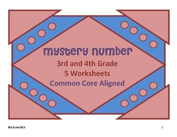 common core math 3rd and 4th grade mystery number clues tpt