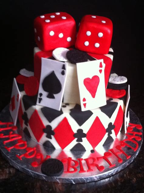playing card poker casino theme cakes  cupcakes