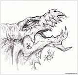 Dragon Evil Drawings Head Draco Wolf Demon Dragons Drawing Somnium Deviantart Coloring Draw Tattoos Sketch Printable Simple sketch template