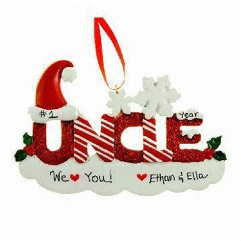 resin ornaments uncle ornament personalized christmas decoration glittered letters global sources