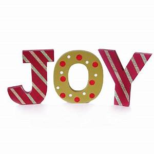 joy cut out letters christmas decoration With joy christmas letters