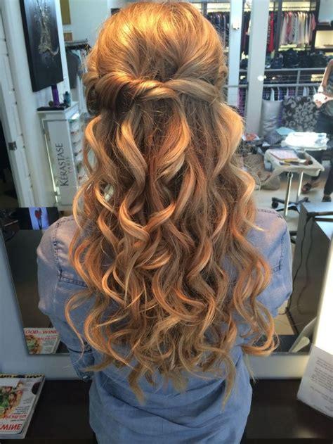 Prom Hairstyles Half Up Half Down Curly Medium Hair   LONG