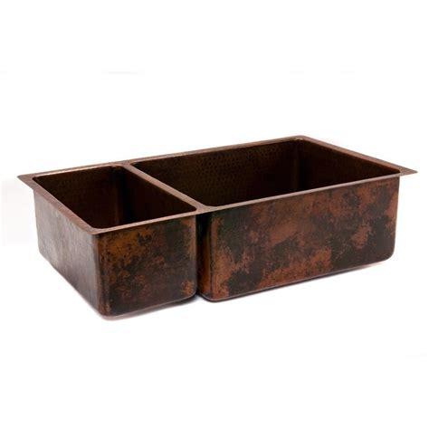 hammered kitchen sink 33 copper hammered kitchen 25 75 basin sink 1536