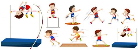 Different Type Of Sports In The Field Vector
