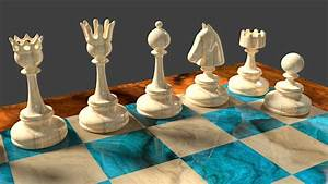 3d, Chess, Pieces, Design, By, 8dfineart, On, Deviantart