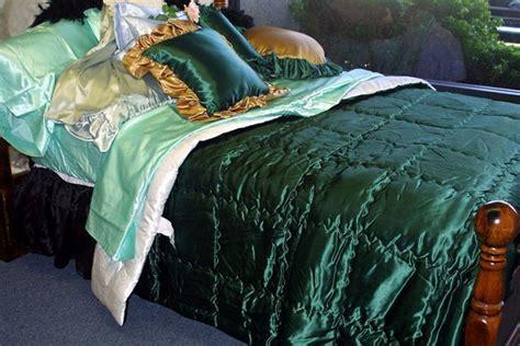 custom  acetate bridal satin comforters super slick